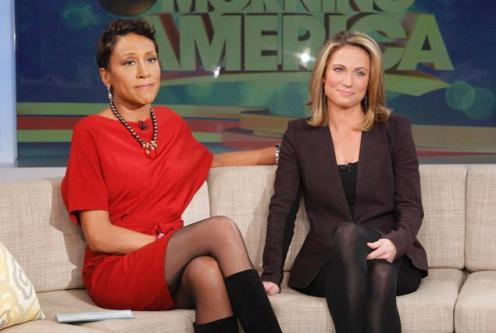 Robin Roberts and Amy Robach / photo: Lou Rocco, ABC News